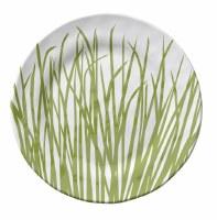 "6"" Round Seagrass Melamine Appetizer Plate"