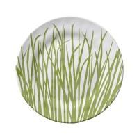 """9"""" Round Seagrass Melamine Salad Plate"""