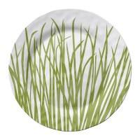 "11"" Round Seagrass Melamine Dinner Plate"