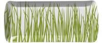 "7"" x 15"" Seagrass Melamine Tray"