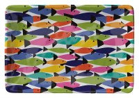 "6"" x 8"" Rainbow Fish Melamine Tray"