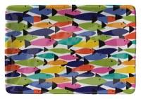 """6"""" x 8"""" Rainbow Fish Melamine Tray"""