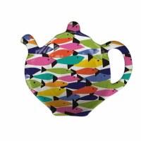 """4"""" Rainbow Fish Melamine Tea Bag Holder"""