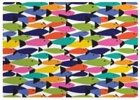 "11"" x 17"" Rainbow Fish Vinyl Placemat"