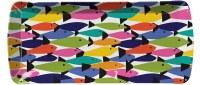 """7"""" X 16"""" Rainbow Fish Melamine Tray"""
