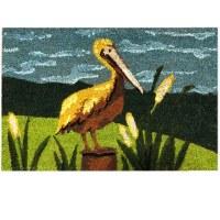 """16"""" x 24"""" Yellow Pelican Coir Fiber Doormat"""