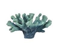 "13"" Faux Turquoise Coral Decor"