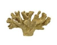 "13"" Faux Gold Coral Decor"