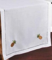 """16"""" x 36"""" Pineappple Hemstitched Table Runner"""