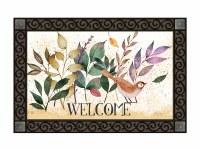 "18"" x 30"" Autumn Leaves and Bird Welcome Doormat"
