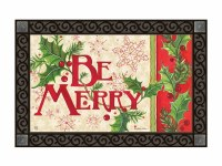 "18"" x 30"" Be Merry Holly Berry Doormat"