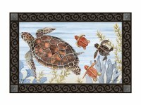 "18"" x 30"" Keep Swimming Turtles Doormat"