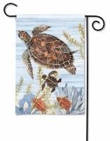 "18"" x 13"" Mini Keep Swimming Turtles Garden Flag"