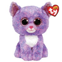 """6"""" TY Beanie Boos Cassidy the Lavender Cat"""