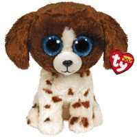 """6"""" TY Beanie Boos Muddles the Brown and White Dog"""