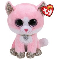 """6"""" TY Beanie Boo Fiona the Pink Cat"""