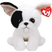 """13"""" TY Beanie Baby Marcel the White and Black Dog"""