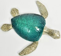"""7"""" Navy and Green Polyresin Sea Turtle"""