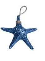 "9"" Navy Chunky Starfish on Rope"