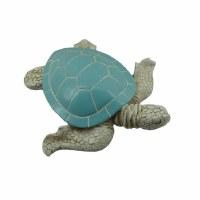 "11"" Blue Gray Polyresin Sea Turtle Figurine"