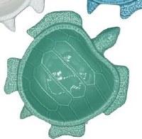 "7"" Green Ceramic Sea Turtle Dish"