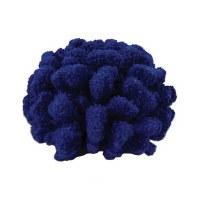 """5"""" Faux Dark Blue Cauliflower Coral Figurine"""