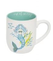 "4"" Light Turquoise Cup of Courage Mermaid Mug"
