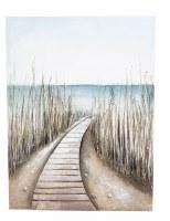 """32"""" x 24"""" 3D Beach Path Canvas Wall Art"""