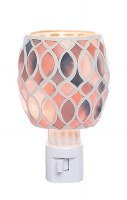 "5"" Pink Glass Geometric Mosaic Night Light"