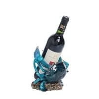 """8"""" Blue Crab Wine Bottle Holder"""