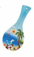 "10"" Seagull on Piling Coastal Spoon Rest"