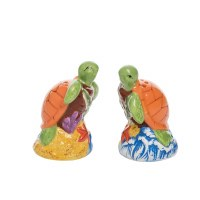 "3"" Multicolor Turtle Couple Beach Salt & Pepper Shakers"