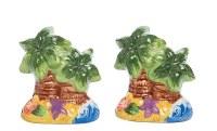 "3"" Multicolor Palm Tree Beach Salt & Pepper Shakers"