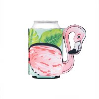 "6"" Pink Flamingo Can Sleeve"