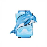 "6"" Blue and White Dolphin Can Sleeve"