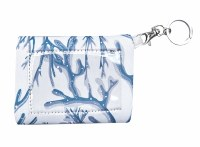 """5"""" Blue and White Coral ID Pouch"""