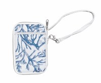 """7"""" Blue and White Coral Wristlet"""