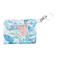 """5"""" White, Pink and Blue Mermaid Toss ID Pouch"""