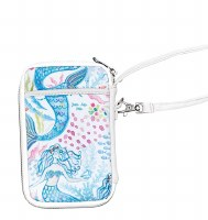 """7"""" White, Pink and Blue Mermaid Toss Wristlet"""