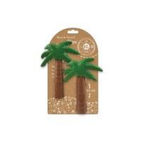 "Set of 2 6"" Palm Tree Beach Towel Clips"