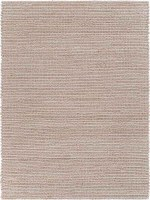 2' x 3' Bleached Natural and Ivory Fiber Rug
