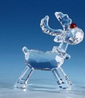 "3"" Clear Standing Red Nose Reindeer"