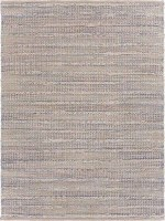 2' x 3' Bleached Natural and Spa Blue Fiber Rug