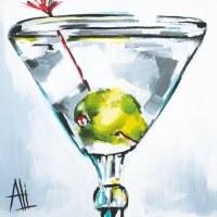 "5"" Square The Art of The Martini Beverage Napkins"