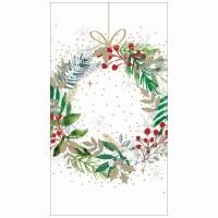 "5"" x 8"" Festive Wreath Guest Towels"