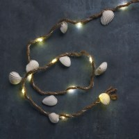 "37"" LED Small Shells and Jute Light String"