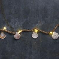 "35"" LED Large Shells and Jute Light String"