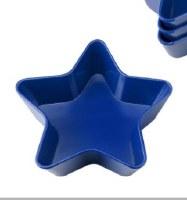 """6"""" Blue Melamine Star Shaped Bowl"""