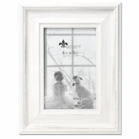 """4"""" x 6"""" Distressed White Picture Frame"""