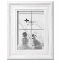 """5"""" x 7"""" Distressed White Picture Frame"""